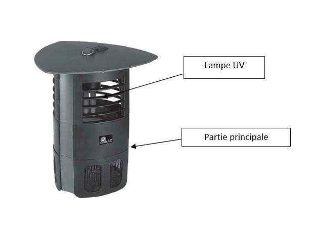 Appareil anti moustiques Photocatalyse extérieur, 400 m2